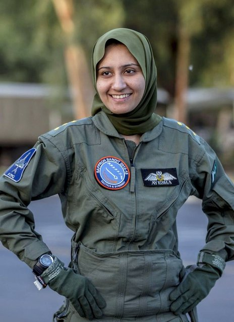 Ayesha Farooq, 26, Pakistan's only female war-ready fighter pilot, smiles during an interview with Reuters at Mushaf base in Sargodha, north Pakistan June 6, 2013. (Photo by Zohra Bensemra/Reuters)