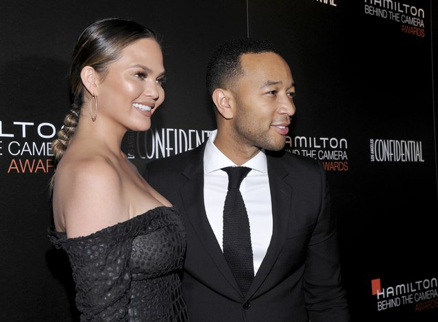 Model Chrissy Teigen (L) and singer John Legend attend the Hamilton Behind The Camera Awards presented by Los Angeles Confidential Magazine at Exchange LA on November 6, 2016 in Los Angeles, California. (Photo by John Sciulli/Getty Images for LA Confidential)