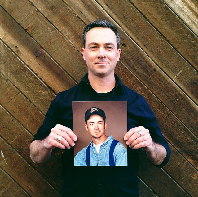 Mark. Then: 19 years old, St. George, UT at Walmart. Now: 38 years old, Research Development Chef for Duffin Concepts, residing in Salt Lake City, UT. (Photo by Awkward Years Project)