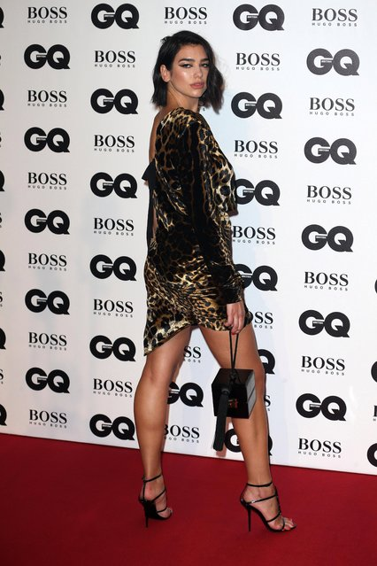 Dua Lipa, winner of the Solo Artist of the Year award, attends the GQ Men of the Year Awards 2018 in association with HUGO BOSS at Tate Modern on September 5, 2018 in London, England. (Photo by The Mega Agency)