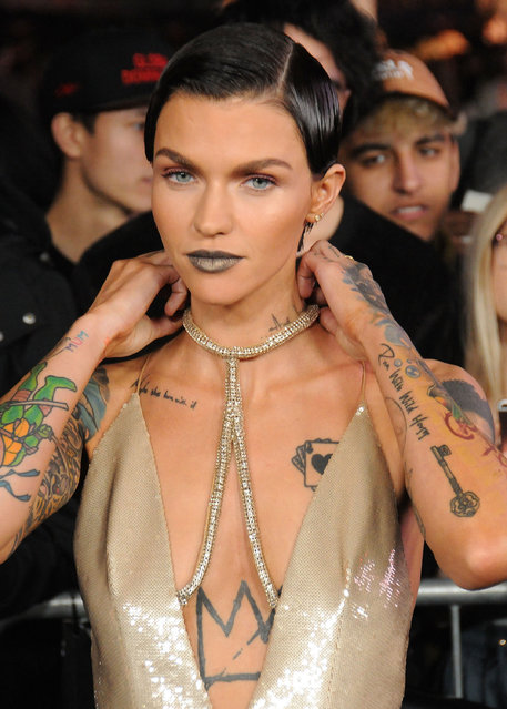 "Actress Ruby Rose arrives at the premiere of Paramount Pictures' ""xXx: Return Of Xander Cage"" at TCL Chinese Theatre IMAX on January 19, 2017 in Hollywood, California. (Photo by Barry King/Getty Images)"