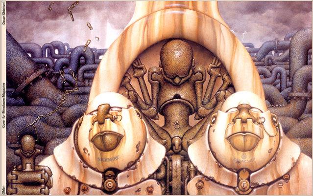 Cover for Minotauro Magazine. Artwork by Oscar Chichoni