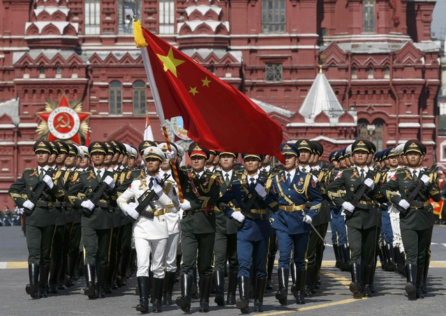 Chinese servicemen march during the Victory Day parade at Red Square in Moscow, Russia, May 9, 2015. (Photo by Sergei Karpukhin/Reuters)