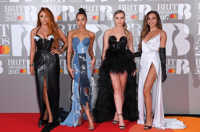 The stars of Little Mix – Jesy Nelson, Leigh-Anne Pinnock, Perrie Edwards and Jade Thirlwall attend The BRIT Awards 2017 at The O2 Arena on February 22, 2017 in London, England. (Photo by David Fisher/Rex Features/Shutterstock)