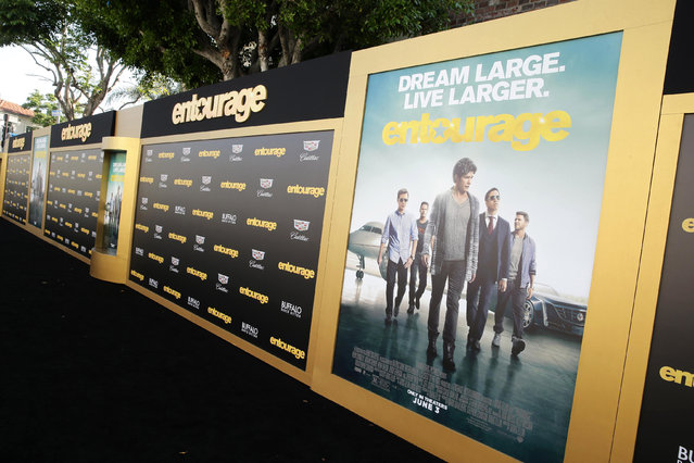 "A general view of atmosphere seen at Warner Bros. Premiere of ""Entourage"" held at Regency Village Theatre on Monday, June 1, 2015, in Westwood, Calif. (Photo by Eric Charbonneau/Invision for Warner Bros./AP Images)"