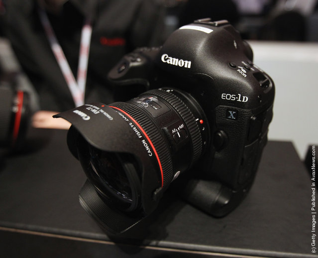 The Canon 1D-X was displayed by Canon at the 2012 International Consumer Electronics Show