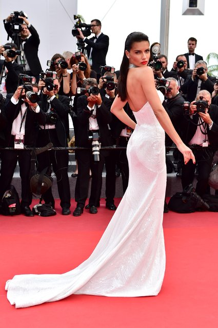 "Model Adriana Lima attends the ""Loveless (Nelyubov)"" screening during the 70th annual Cannes Film Festival at Palais des Festivals on May 18, 2017 in Cannes, France. (Photo by James Gourley/Rex Features/Shutterstock)"