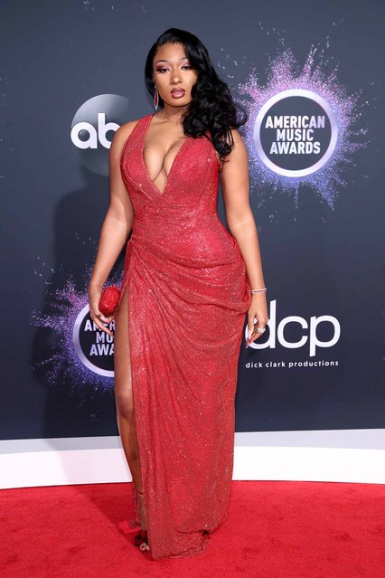 Megan Thee Stallion attends the 2019 American Music Awards at Microsoft Theater on November 24, 2019 in Los Angeles, California. (Photo by Rich Fury/Getty Images)