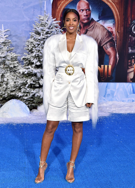 """Kelly Rowland attends the premiere of Sony Pictures' """"Jumanji: The Next Level"""" on December 09, 2019 in Hollywood, California. (Photo by Axelle/Bauer-Griffin/FilmMagic)"""
