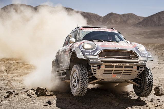 Jakub Przygonski at the stage 1 of Dakar Rally, Pisco, Peru on January 7, 2019. (Photo by Kin Marcin/Red Bull Content Pool)