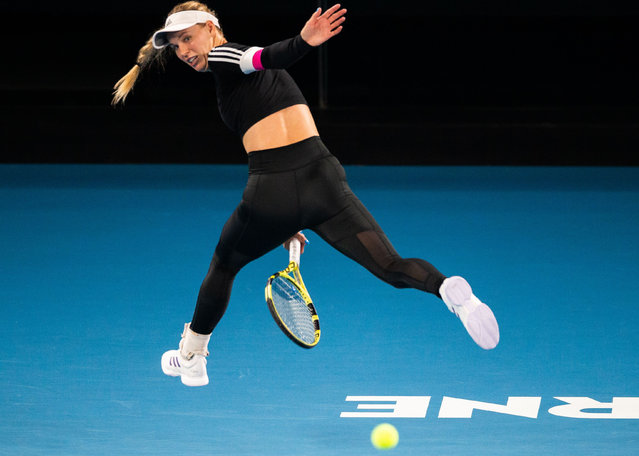 Caroline Wozniacki of Denmark attends a practice session in Melbourne on January 16, 2020, ahead of the Australian Open tennis tournament. (Photo by Asanka Brendon Ratnayake/AFP Photo)