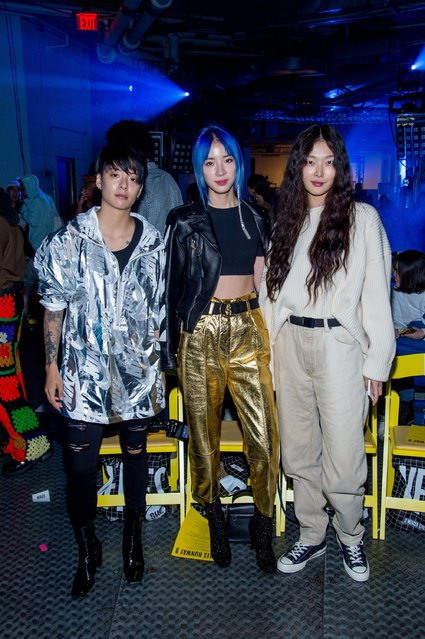 Amber Liu and Irene Kim attend the VFILES show during New York Fashion Week at Barclays Center of Brooklyn on September 6, 2017 in New York City. (Photo by Roy Rochlin/Getty Images)