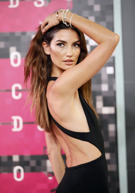 Model Lily Aldridge arrives at the 2015 MTV Video Music Awards in Los Angeles, California, August 30, 2015. (Photo by Danny Moloshok/Reuters)