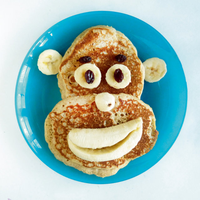 Pancake, banana, raisins. (Photo by Bill and Claire Wurtzel/Welcome Books)