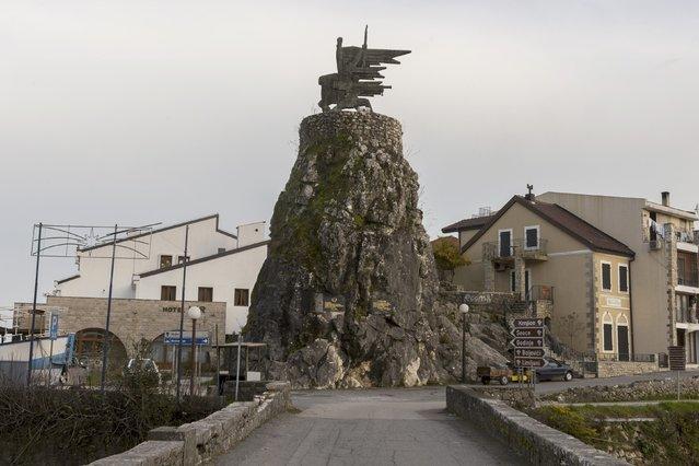 "General view of the memorial ""Monument to the Revolution"" in Virpazar, Montenegro, November 8, 2014. (Photo by Stevo Vasiljevic/Reuters)"