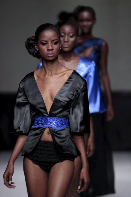 Models present creations of Haitian designer Ludwinge Tardieu during Haiti Fashion Week 2015 in Port-au-Prince, Haiti, November 7, 2015. (Photo by Andres Martinez Casares/Reuters)