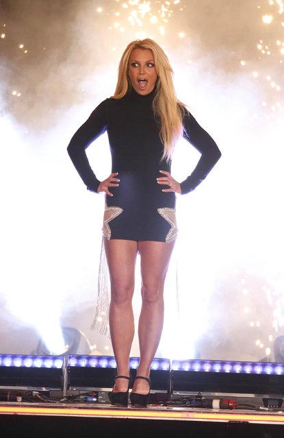 Singer Britney Spears announced her new Las Vegas Residency, NV on October 18, 2018/ (Photo by StartraksPhoto.com)