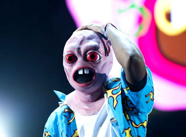 Tyler the Creator performs on the second day of the Coachella Music Festival in Indio, California, on April 11, 2015. (Photo by Robyn Beck/AFP Photo)