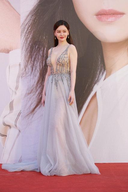 Actress Sabrina Qiu Yinong poses on the red carpet of the 38th Hong Kong Film Awards Ceremony at the Hong Kong Cultural Centre on April 14, 2019 in Hong Kong, China. (Photo by VCG/VCG via Getty Images)