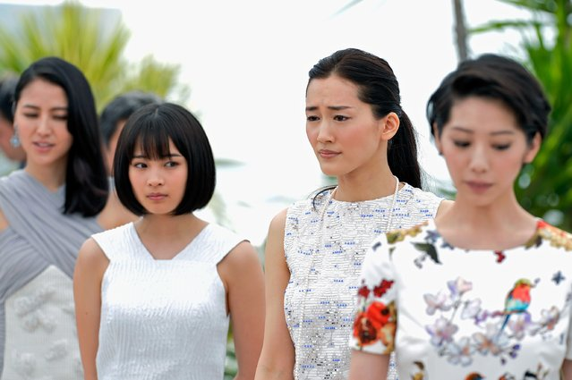 "(L-R) Actresses Masami Nagasawa, Suzu Hirose, Haruka Ayase and Kaho attend a photocall for ""Umimachi Diary"" (Our Little Sister) during the 68th annual Cannes Film Festival on May 14, 2015 in Cannes, France. (Photo by Pascal Le Segretain/Getty Images)"