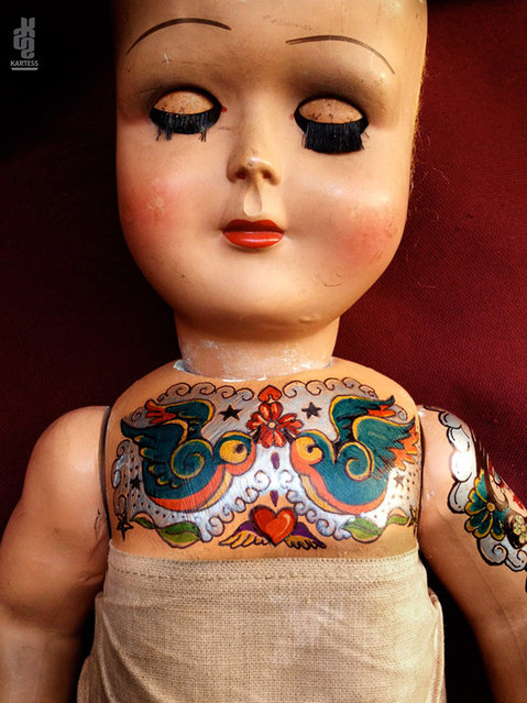 Vintage Tattooed Dolls By Kartess
