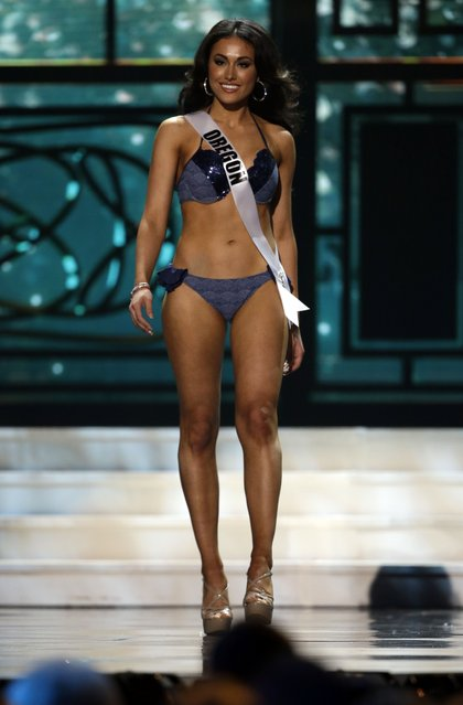 Miss Oregon, Bridget Wilmes, competes in the bathing suit competition during the preliminary round of the 2015 Miss USA Pageant in Baton Rouge, La., Wednesday, July 8, 2015. (Photo by Gerald Herbert/AP Photo)