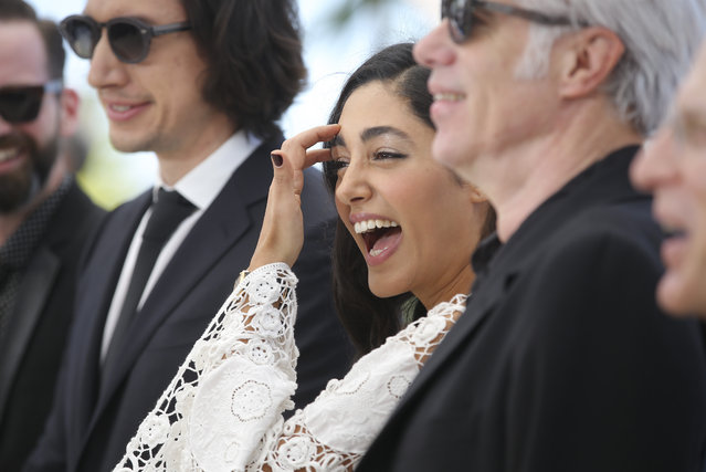 Actress Golshifteh Farahani, centre, poses for photographers during a photo call for the film Paterson at the 69th international film festival, Cannes, southern France, Monday, May 16, 2016. (Photo by Thibault Camus/AP Photo)