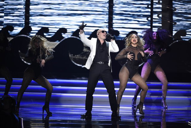 Singer Pitbull performs during the 2017 Miss USA pageant at the Mandalay Bay Events Center on May 14, 2017 in Las Vegas, Nevada. (Photo by David Becker/Reuters)