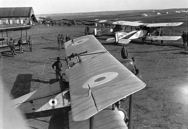 No. 1 Squadron, a unit of the Australian Flying Corps, in Palestine in 1918. (Photo by James Francis Hurley/State Library of New South Wales via The Atlantic)