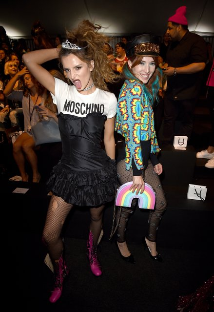Bella Thorne and Dani Thorne attend the Moschino Spring/Summer 17 Menswear and Women's Resort Collection during MADE LA at L.A. LIVE Event Deck on June 10, 2016 in Los Angeles, California. (Photo by Kevin Winter/Getty Images)