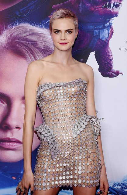 """Actress Cara Delevingne attends the """"Valerian And The City Of A Thousand Planets"""" Mexico City premiere at Parque Toreo on August 2, 2017 in Mexico City, Mexico. (Photo by Carlos Tischler/Rex Features/Shutterstock)"""
