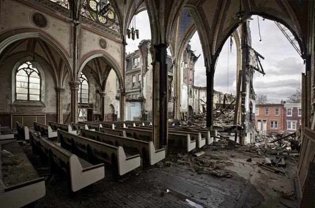 St. Bonaventure Roman Catholic Church, Philadelphia Pa. (Photo by Matthew Christopher/Caters News)