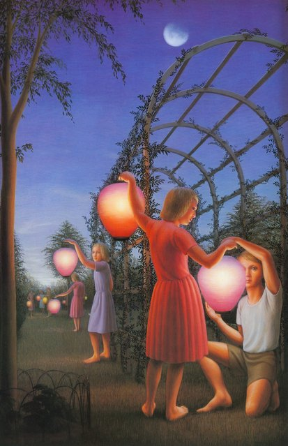 Garden Party. Artwork by George Tooker