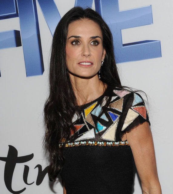 "Actress Demi Moore attends the screening of ""Five"" at Skylight SOHO on September 26, 2011 in New York City.  (Photo by Jason Kempin)"