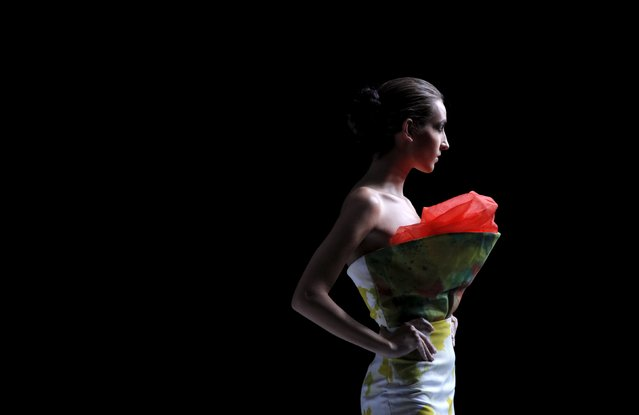 A model presents a creation of designer Watson Saint Louis during Haiti Fashion Week 2015 in Port-au-Prince, Haiti, November 7, 2015. (Photo by Andres Martinez Casares/Reuters)