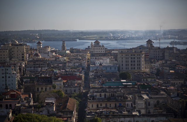 This December 30, 2014 photo shows Havana from the capitol dome in Havana, Cuba. (Photo by Ramon Espinosa/AP Photo)