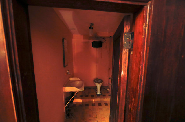 A toilet in a bathroom is seen inside Stalin's Bunker in Samara, Russia, on Tuesday, June 26, 2018. (Photo by David Gray/Reuters)