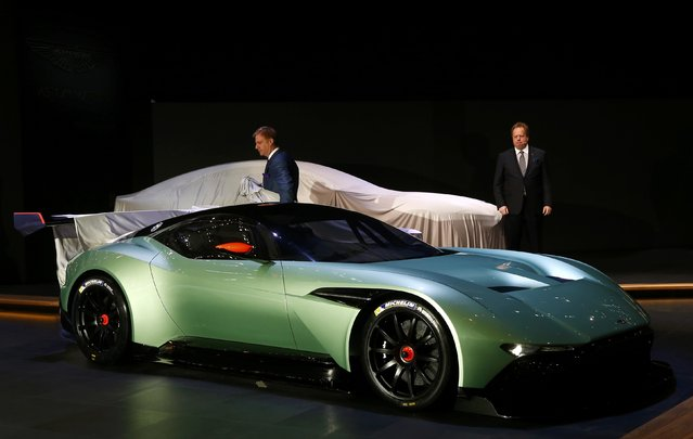 The Aston Martin Vulcan is unveiled during the first press day ahead of the 85th International Motor Show in Geneva March 3, 2015. REUTERS/Arnd Wiegmann