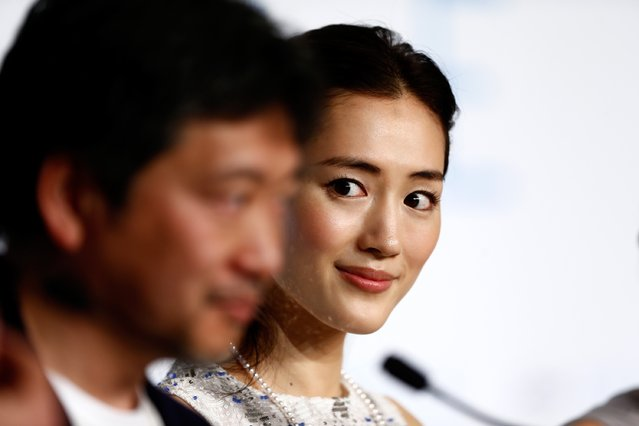 "Actress Haruka Ayase attends the press conference for ""Umimachi Diary"" (Our Little Sister) during the 68th annual Cannes Film Festival on May 14, 2015 in Cannes, France. (Photo by Ian Langsdon/Getty Images)"