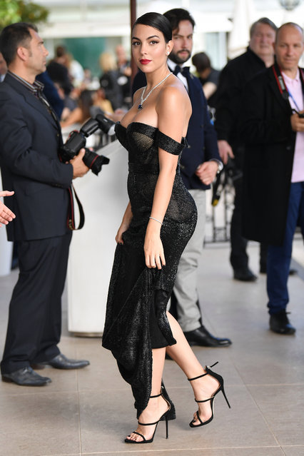 Cristiano Ronaldo's girlfriend Georgina Rodriguez is seen during the 72nd annual Cannes Film Festival at on May 21, 2019 in Cannes, France. (Photo by Jacopo Raule/GC Images)