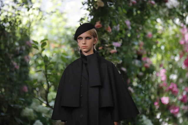A model wears a creation for the Dior Haute Couture Fall-Winter 2020 fashion collection presented in Paris, Monday, July 1 2019. (Photo by Michel Euler/AP Photo)