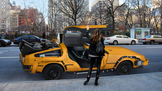 DeLorean NYC Taxi