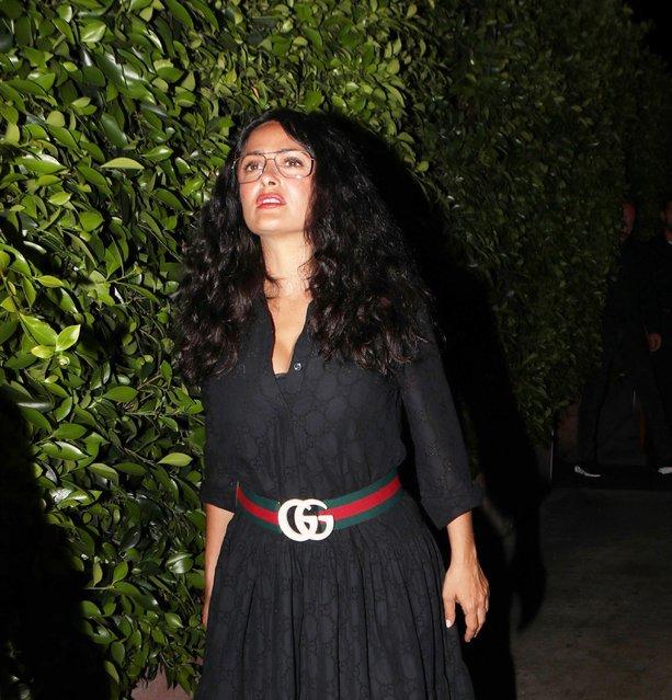 Gucci lover and owner Salma Hayek and Francois Henri Pinault at G Baldi, Santa Monica on August 17, 2019. (Photo by X17/SIPA Press)