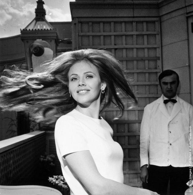 1969: Swedish born actress Britt Ekland