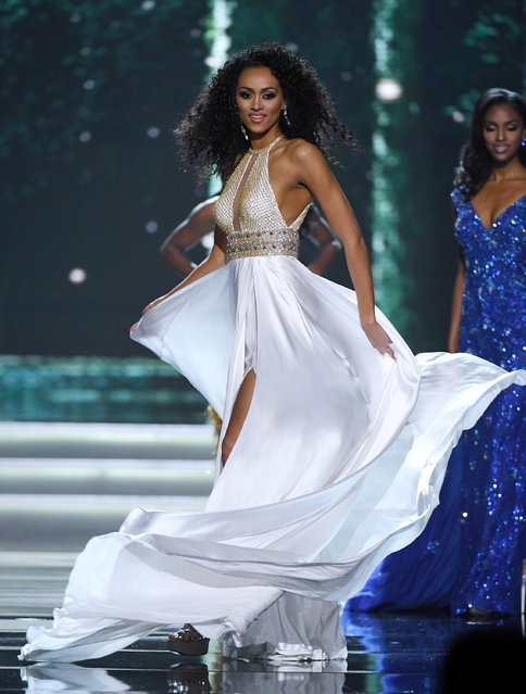 Miss District of Columbia USA 2016 Kara McCullough competes in the evening gown competition during the 2017 Miss USA pageant at the Mandalay Bay Events Center on May 14, 2017 in Las Vegas, Nevada. She went on to be named the new Miss USA. (Photo by Ethan Miller/Getty Images)