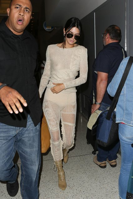 Kendall Jenner is seen at LAX on May 18, 2017 in Los Angeles, California. (Photo by Starzfly/Bauer-Griffin/GC Images)
