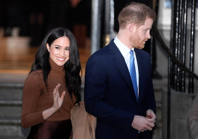 Britain's Prince Harry and his wife Meghan, Duchess of Sussex, leave Canada House in London, Britain on January 7, 2020. (Photo by Toby Melville/Reuters)