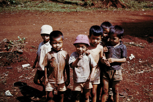 A photo of Vietnamese children taken by D. Thornton. (Photo by D. Thornton/The Vietnam Slide Project)