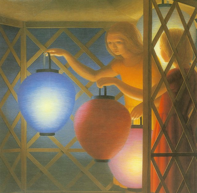 In The Summer House. Artwork by George Tooker