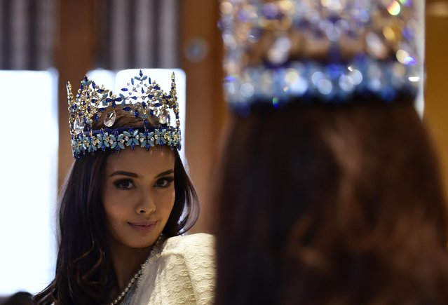 Miss World 2013, Megan Young of the Philippines, poses during a publicity launch in central London November 25, 2014. (Photo by Toby Melville/Reuters)